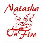 Natasha On Fire Square Car Magnet 3