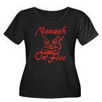 Nevaeh On Fire Women's Plus Size Scoop Neck Dark T