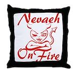 Nevaeh On Fire Throw Pillow