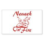 Nevaeh On Fire Sticker (Rectangle)
