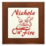 Nichole On Fire Framed Tile