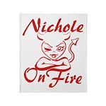 Nichole On Fire Throw Blanket