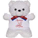 Nichole On Fire Teddy Bear