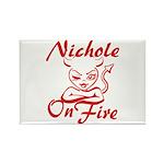 Nichole On Fire Rectangle Magnet