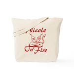 Nicole On Fire Tote Bag