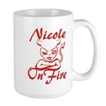 Nicole On Fire Large Mug
