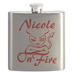 Nicole On Fire Flask