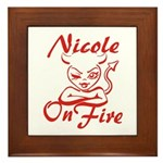 Nicole On Fire Framed Tile