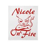 Nicole On Fire Throw Blanket