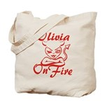 Olivia On Fire Tote Bag
