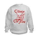 Olivia On Fire Kids Sweatshirt