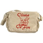 Olivia On Fire Messenger Bag