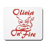 Olivia On Fire Mousepad