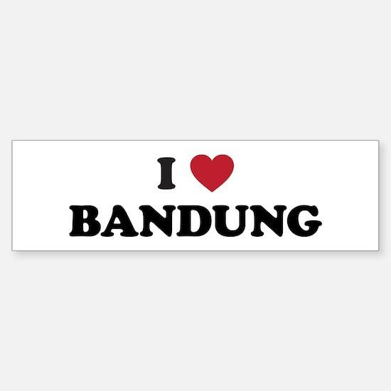 I Love Bandung Sticker (Bumper)