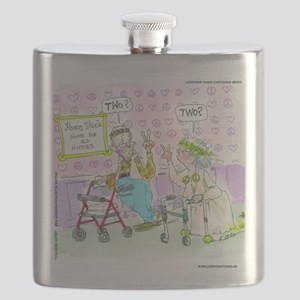 Where Have All The Woodstock Hippies Gone? Flask