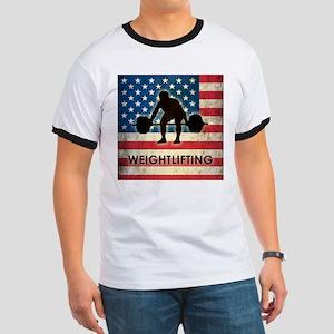 Grunge USA Weightlifting Ringer T