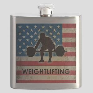 Grunge USA Weightlifting Flask