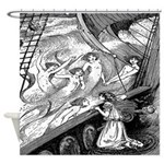 Mermaids and Ship Shower Curtain