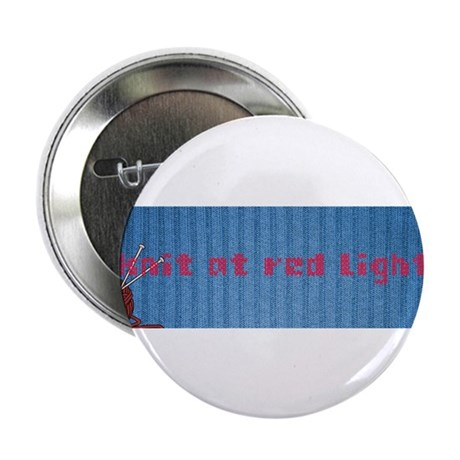 """I Knit At Red Lights 2.25"""" Button (10 pack)"""