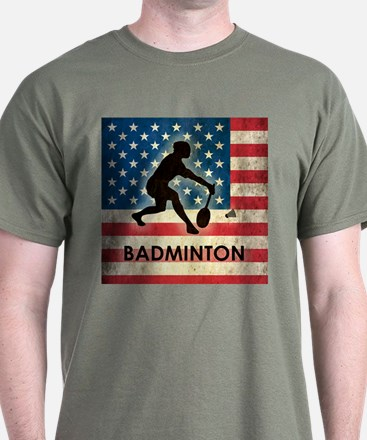 Grunge USA Badminton T-Shirt