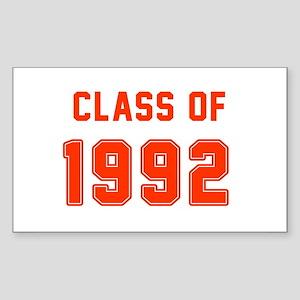 Class of 1992 Orange Sticker