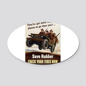 mpw00239 Oval Car Magnet