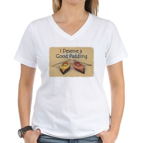 I Deserve a Good Paddling Border T-Shirt