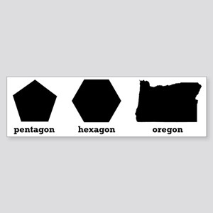 Polygon Oregon Sticker (Bumper)