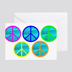 FIVE RINGS OF PEACE Greeting Card
