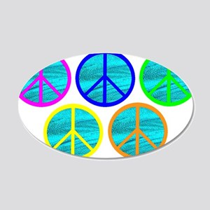 FIVE RINGS OF PEACE 20x12 Oval Wall Decal