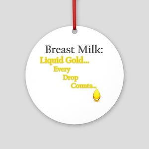 Liquid Gold Ornament (Round)