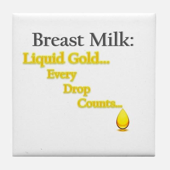Liquid Gold Tile Coaster