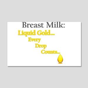 Liquid Gold 20x12 Wall Decal