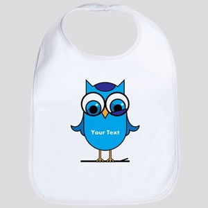 Custom Blue Owl Branch Bib