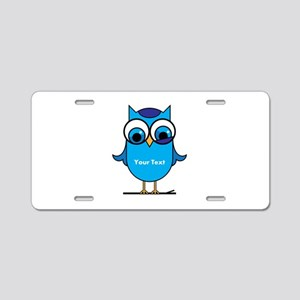 Custom Blue Owl Branch Aluminum License Plate