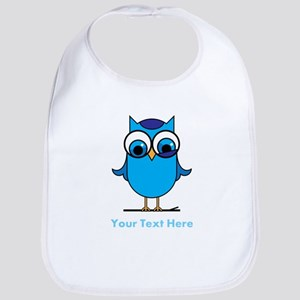 Personalized Blue Owl Bib
