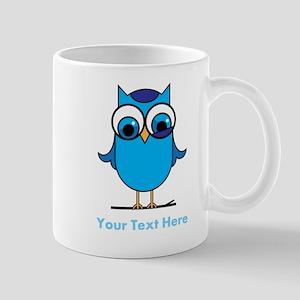 Personalized Blue Owl Mug