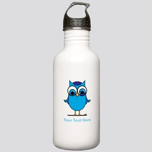 Personalized Blue Owl Stainless Water Bottle 1.0L