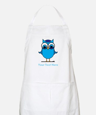 Personalized Blue Owl Apron