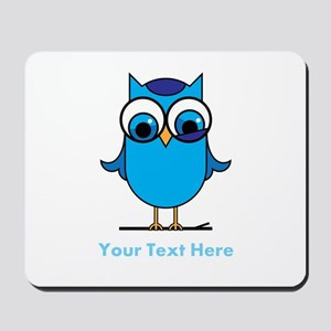 Personalized Blue Owl Mousepad
