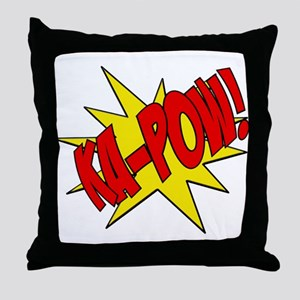 pow, kapow, ka-pow Throw Pillow