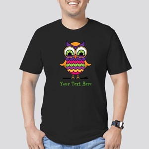 Customizable Whimsical Owl Men's Fitted T-Shirt (d