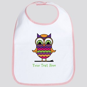 Customizable Whimsical Owl Bib