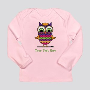 Customizable Whimsical Owl Long Sleeve Infant T-Sh