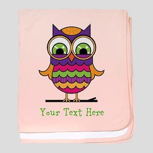 Customizable Whimsical Owl baby blanket