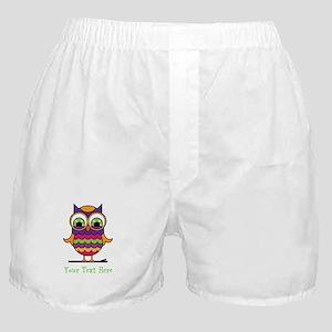 Customizable Whimsical Owl Boxer Shorts