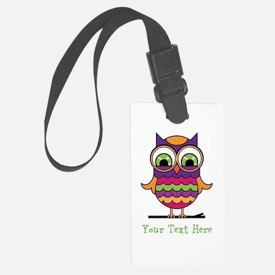 Customizable Whimsical Owl Luggage Tag
