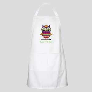 Customizable Whimsical Owl Apron