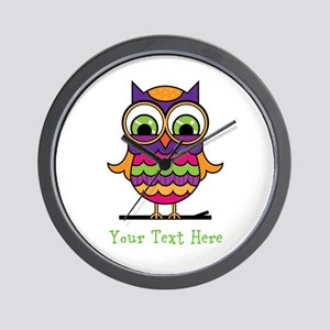 Customizable Whimsical Owl Wall Clock