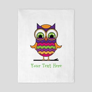 Customizable Whimsical Owl Twin Duvet